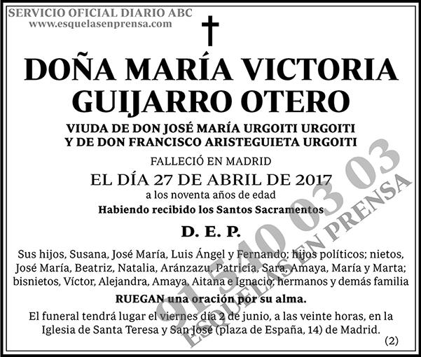 María Victoria Guijarro Otero